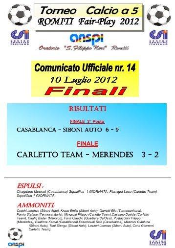 squadra fair-play - Parrocchia Romiti