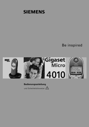 Siemens Gigaset 4010mic.pdf - Wasser.de