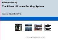 Pörner Bitumen Packing System - Pörner Group