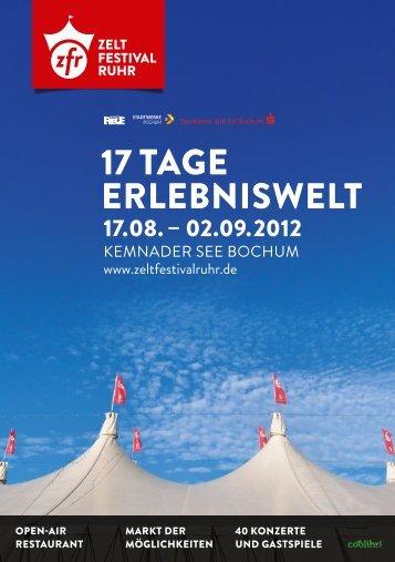 17 tAge erlebniswelt - Zeltfestival Ruhr