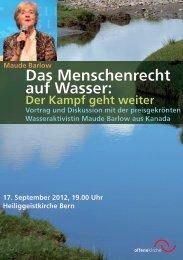 Das Menschenrecht auf Wasser: - offene kirche