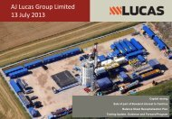 Investor Presentation - AJ Lucas