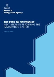 THE PATH TO CITIZENSHIP: NEXT STEPS IN REFORMING THE ...