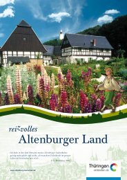 Imagebroschüre Altenburger Land - Altenburg Tourismus