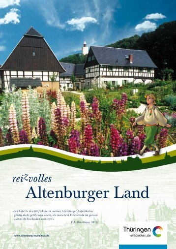 Imagebroschüre Altenburger Land - Altenburg Tourismus