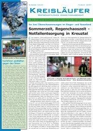 Sommerzeit, Regenchaoszeit - Notfallentsorgung in Kreuztal