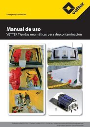 Manual de uso - Vetter GmbH