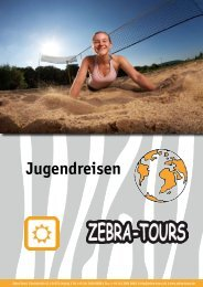 Jugendreisen 2012 - Zebra-Tours