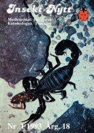 Insekt-Nytt - Norsk entomologisk forening