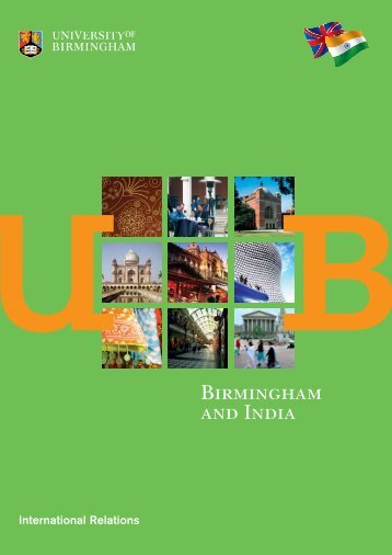 Birmingham and India Brochure (PDF - 860KB) - University of ...