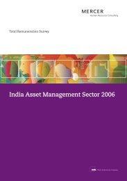 India Asset Management Sector 2006 - iMercer.com