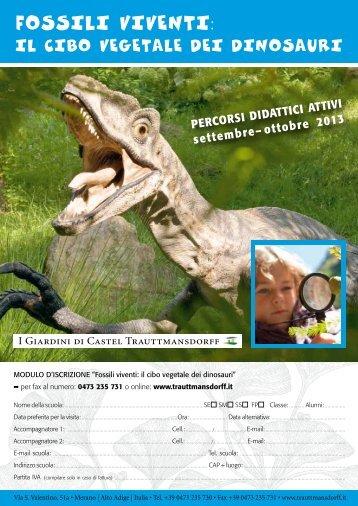 Fossili viventi: il cibo vegetale dei dinosauri