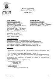 Compte-rendu Conseil exploitation Régie du 01/02/2012