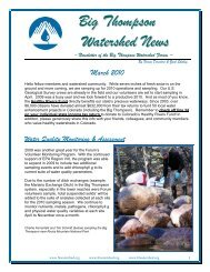Forum Fall 2010 Newsletter - Big Thompson Watershed Forum