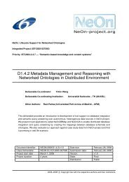 D1.4.2 Metadata Management and Reasoning with ... - Institut AIFB