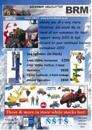 Log Splitters (In Stock) £650 £830 - Brian Robinson Machinery