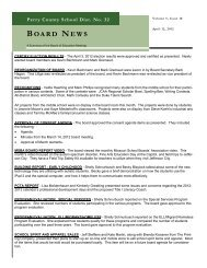 BOARD NEWS - Perry County School District No. 32 / Homepage