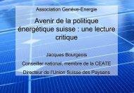 Défis et stratégie de l'agriculture suisse - Genève-Énergie
