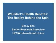 Wal-Mart's Health Benefits: The Reality Behind the ... - Good Jobs First