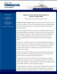 Pinnacol Assurance Board Takes Positions on Interim Committee Bills