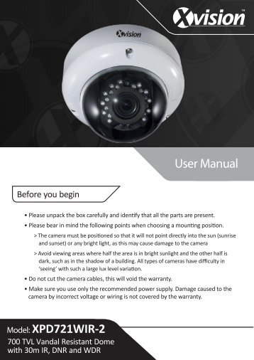 User Manual Model: XPD721WIR-2 - Y3k.com