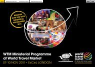 WTM Ministerial Programme at World Travel Market