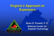 Virginia's Approach to Superpave - neaupg