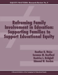 Reframing Family Involvement in Education: Supporting Families to ...