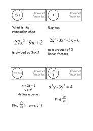 Treasure Hunt - Mr Barton Maths