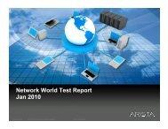 Network World Test Report Jan 2010 - le blog de Miel