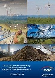 Skonsolidowany raport kwartalny za III kwartał 2010 roku - PGE