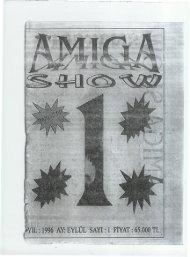 Amiga Show - Sayi 01 (Eylul 1996).pdf - Retro Dergi