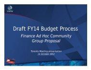 Draft FY14 Budget Process: Finance Ad Hoc ... - Toronto - icann