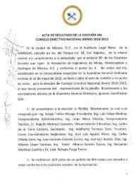 Acta de Resultado de la Elección del Consejo Directivo Nacional ...