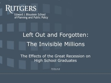 The Effects of the Great Recession on High School Graduates