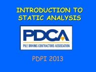 Introduction to Static Analysis - Pile Driving Contractors Association