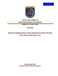 tahun 2006 nomor 02 peraturan daerah kota ... - Bappeda Depok