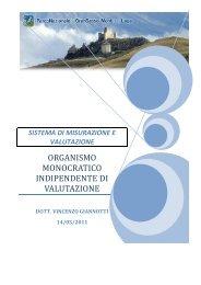 sistema di misurazione e valutazione - Parco Nazionale del Gran ...