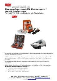Diagnosesoftware speziell für Kleintransporter / gewerbl ...