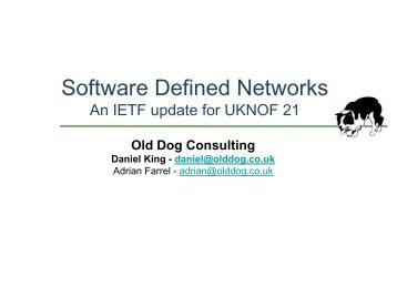 Software Defined Networks - UK Network Operators' Forum