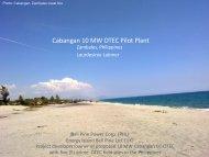 D. Latimer_Bell Pirie OTEC developer - Hawaii National Marine ...