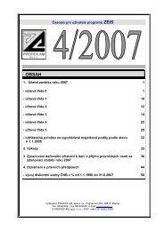 1. ÚČETNÍ ZÁVĚRKA ROKU 2007 - Profex AM, spol. s ro