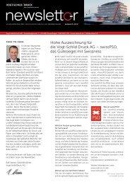 Newsletter Agust 2012 - Vogt-Schild Druck AG