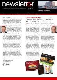 Lebensmittel und Druckprodukt – ein Widerspruch?