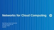 Networks for Cloud Computing - UK Network Operators' Forum