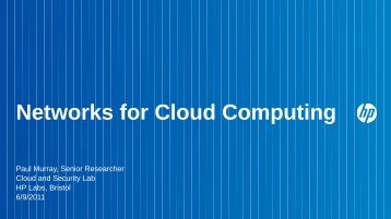 Networks for Cloud Computing - UK Network Operators' Forum