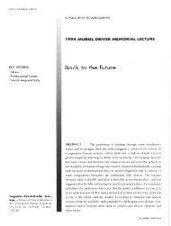 Back to the future - Canadian Association of Occupational Therapists