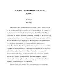 The Secret of Mannheim's Remarkable Success ... - Bard College
