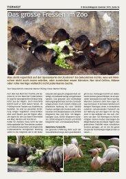 Das grosse Fressen im Zoo - Birseck Magazin