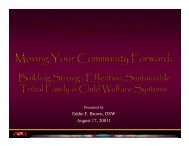 Building Strong, Effective, Sustainable Tribal Family & Child Welfare ...